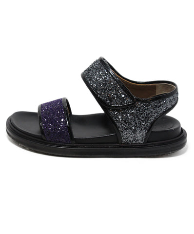 Marni Purple Silver Glitter Sandals 1