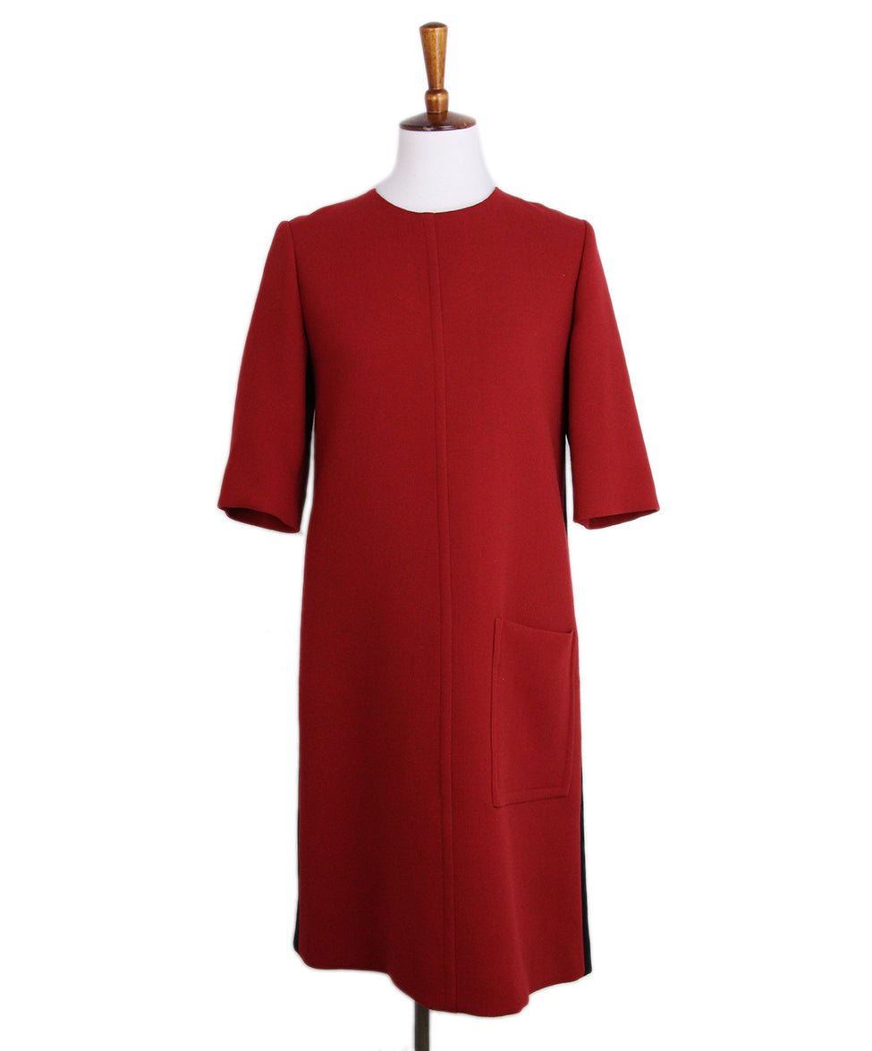 Marni Red Black Wool Dress 1