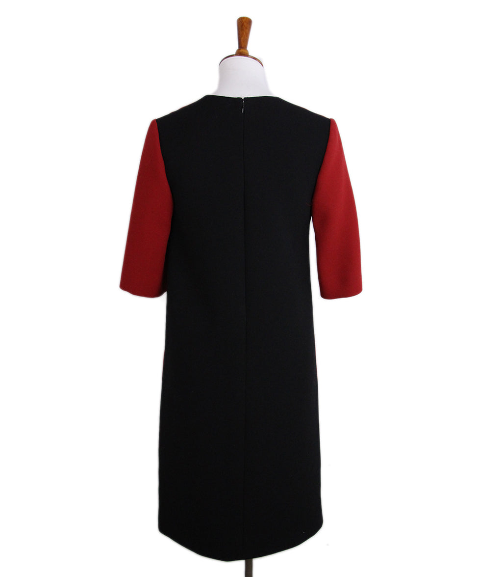 Marni Red Black Wool Dress 3