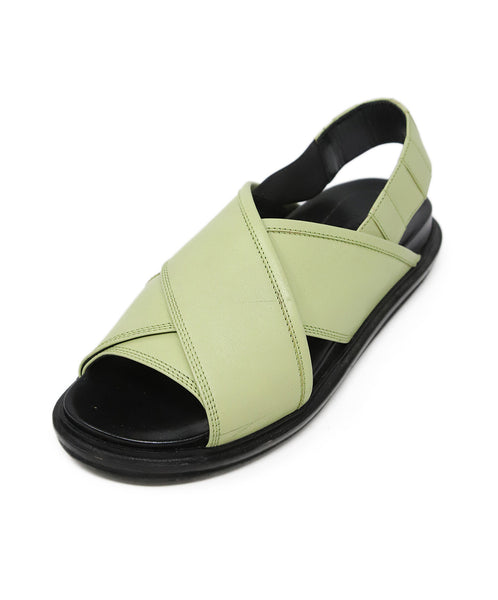 Marni Green Leather Shoes 1