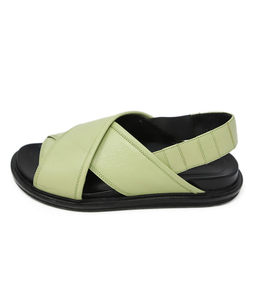 Marni Green Leather Shoes 2