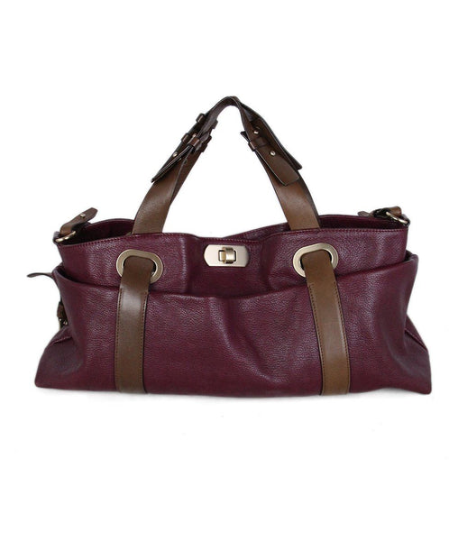 Marni Violet Leather Shoulder Bag 1