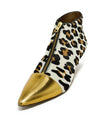 Marni Animal Print Gold Trim Pony Booties 1
