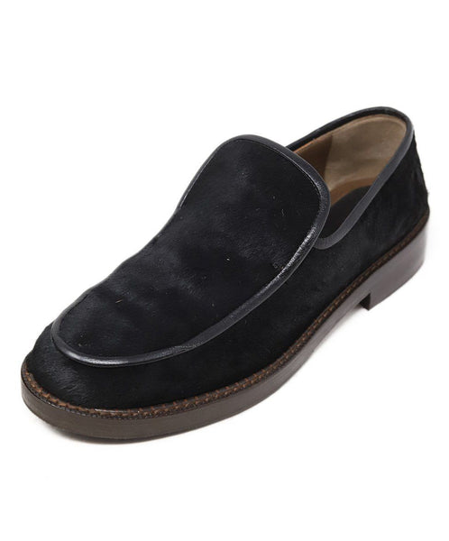 Marni Black Fur Loafers