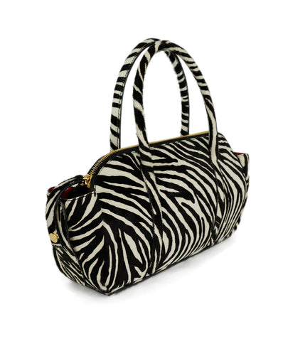 Marni Brown Ivory Zebra Pony Satchel Handbag 1