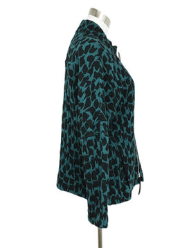 Marni Green Forest Black Modal Print Jacket 2