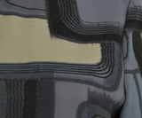 Marni Grey Black Tan Cotton Silk Print Tunic Top 5
