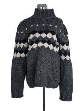 Marni Grey White Wool Alpaca Sweater 1