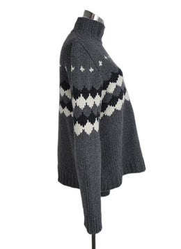 Marni Grey White Wool Alpaca Sweater 2