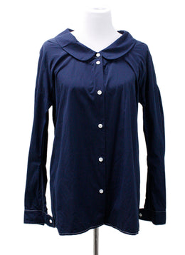 Marni Blue Navy Cotton Top