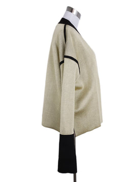 Marni Neutral Gold Viscose Brown Wool Cardigan Sweater 2