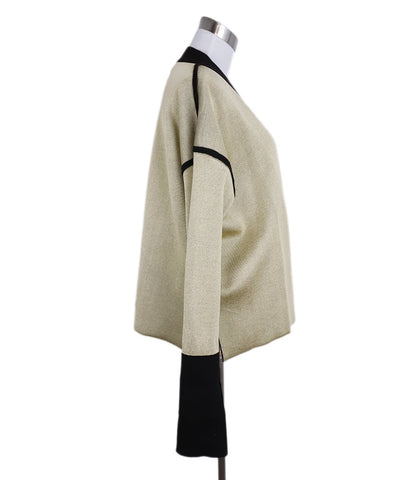 Marni Neutral Gold Viscose Brown Wool Cardigan Sweater 1
