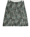 Marni White Black Blue Wool Dots Skirt 1