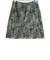 Marni White Black Blue Wool Dots Skirt 2