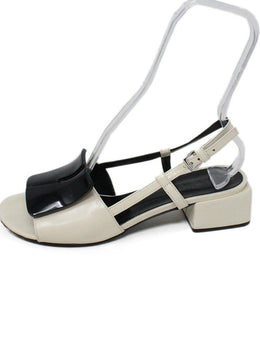 Marni White Black Leather Sandals 2