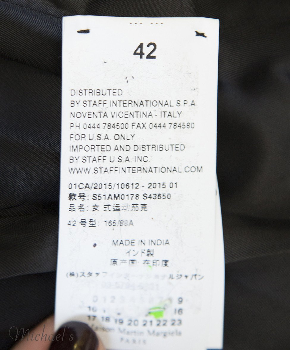 Martin Margiela Black Palm Runway Jacket Sz 42 - Michael's Consignment NYC  - 7