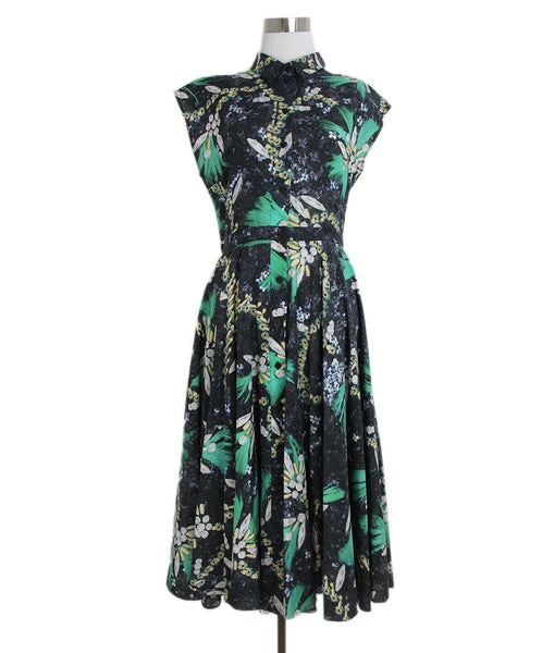 Mary Katrantzou green black white dress 1