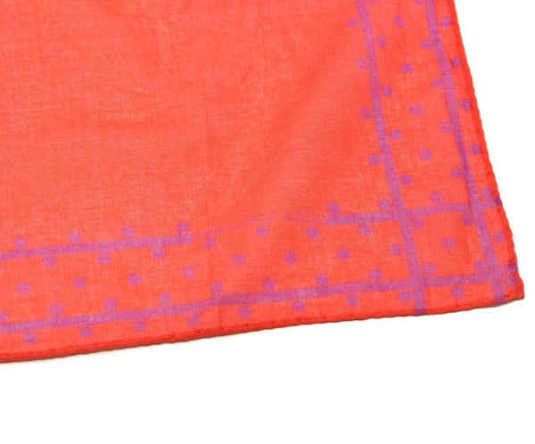 Massimo Alba Red Purple Cotton Scarf 2