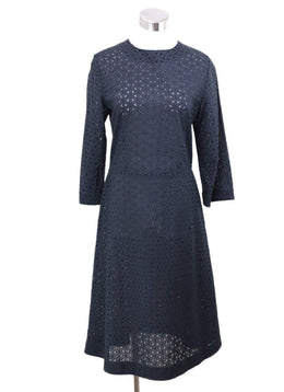 Mansur Gavriel Black Cotton Eyelet Dress