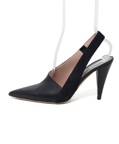 Max Mara Black Leather Heels 1
