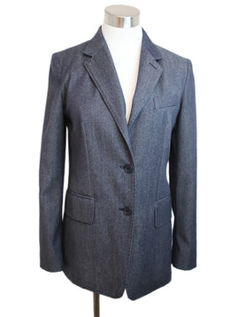 Max Mara Blue Denim Wool Jacket 1