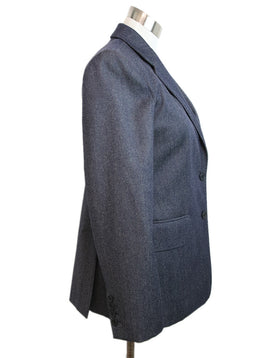 Max Mara Blue Denim Wool Jacket 2