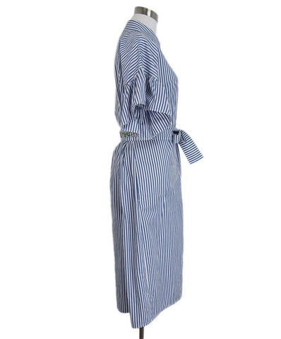 Max Mara Blue White Stripes Dress 1