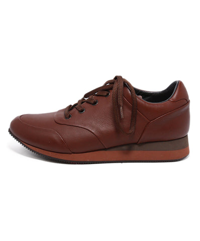 Max Mara Brown Leather Sneakers 1