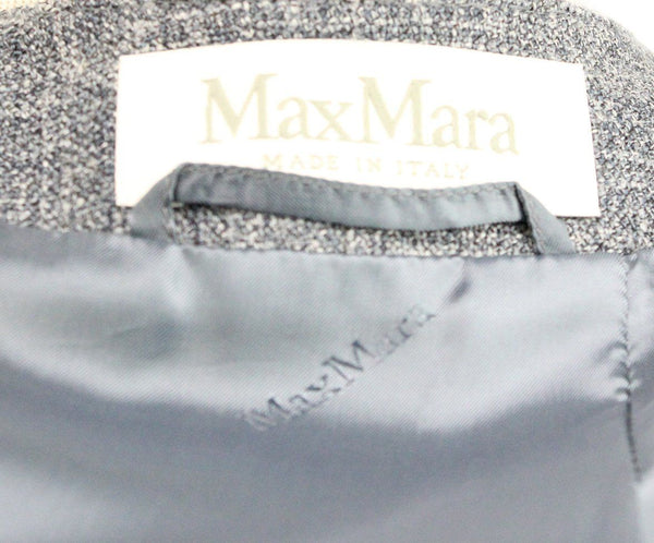 Max Mara Grey Silk and Linen Jacket 4