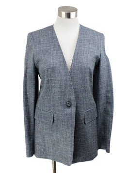Max Mara Grey Silk and Linen Jacket 1