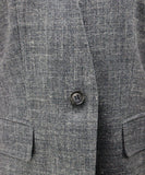 Max Mara Grey Silk and Linen Jacket 5
