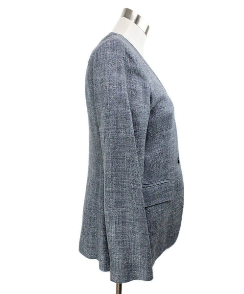 Max Mara Grey Silk and Linen Jacket 2