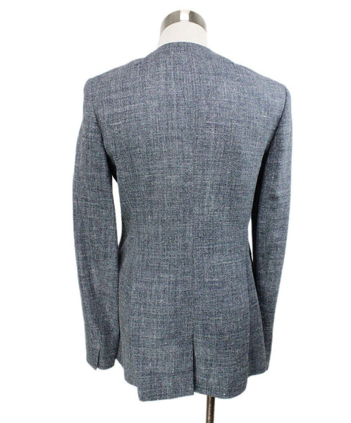 Max Mara Grey Silk and Linen Jacket 3