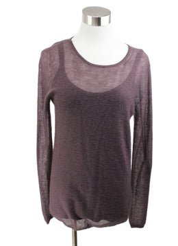 Max Mara Purple Mohair Cotton Sweater with Tank Top 1