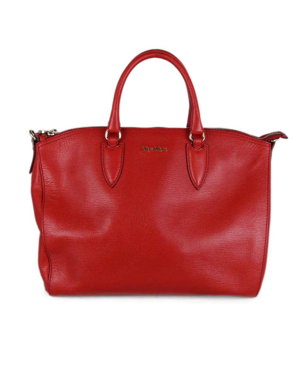 Max Mara Red Leather Bag 1