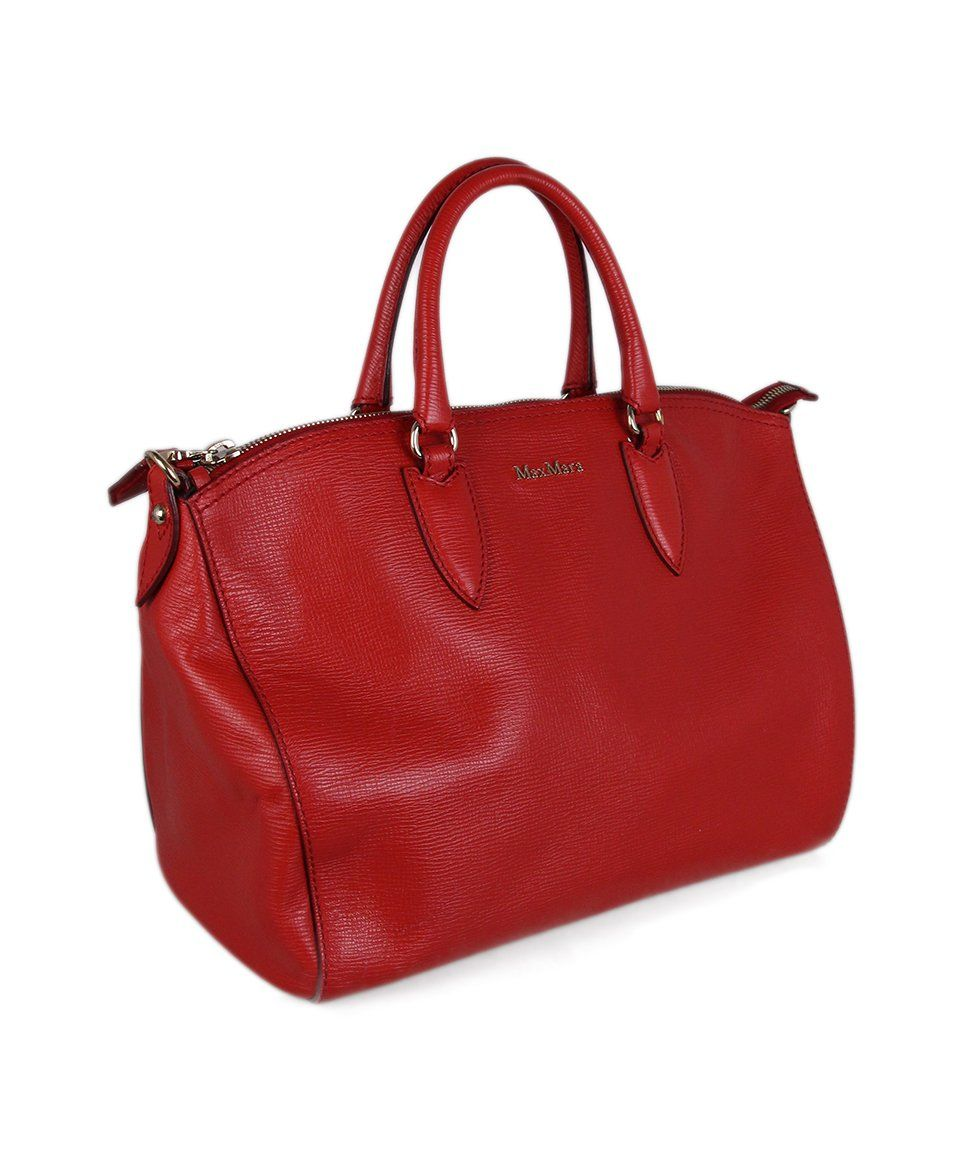 Max Mara Red Leather Bag 2