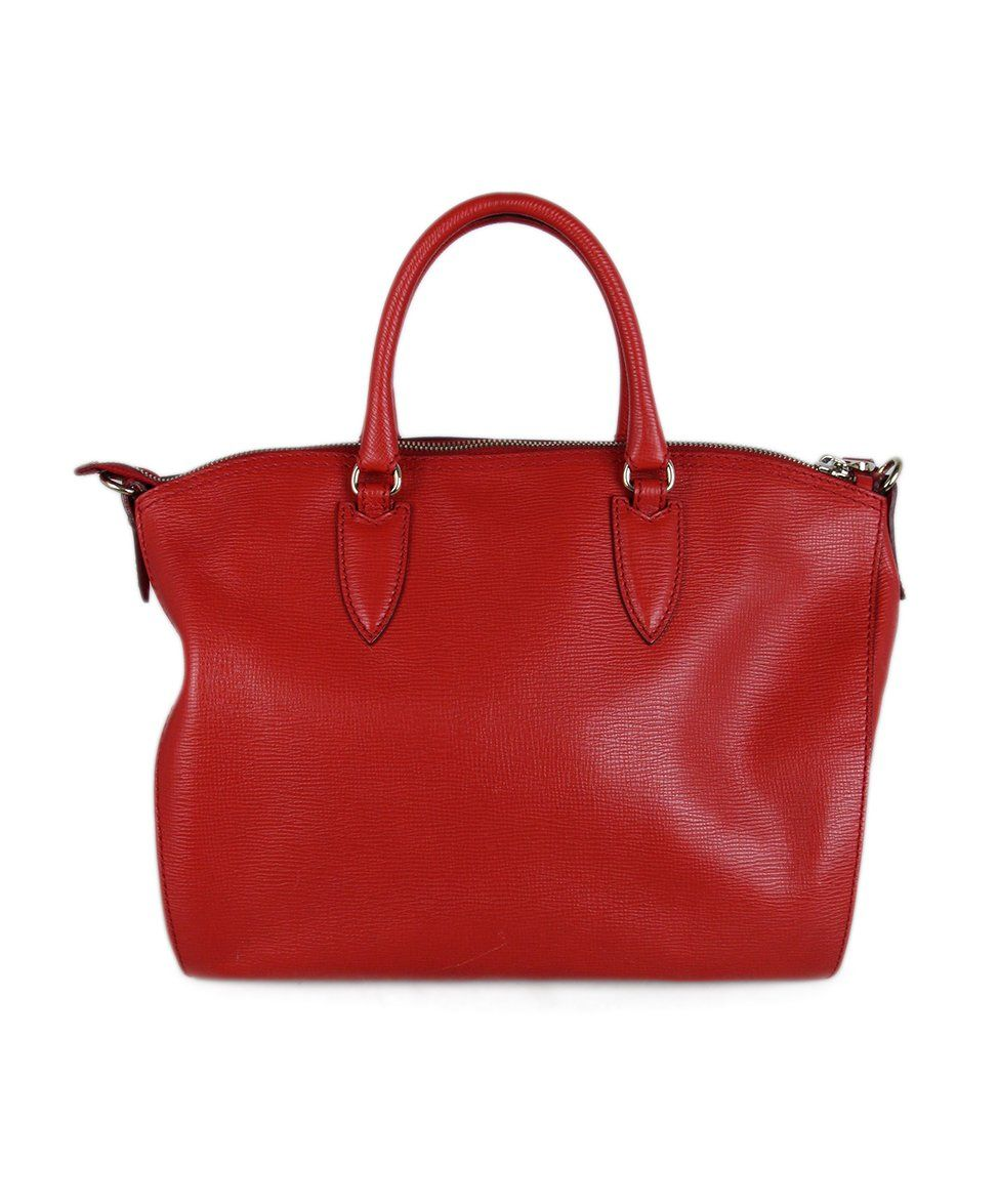 Max Mara Red Leather Bag 3