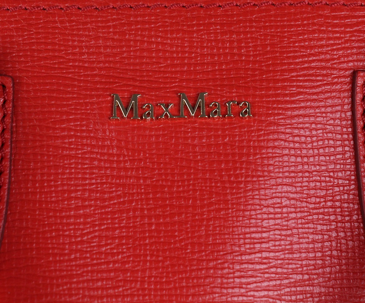 Max Mara Red Leather Bag 7
