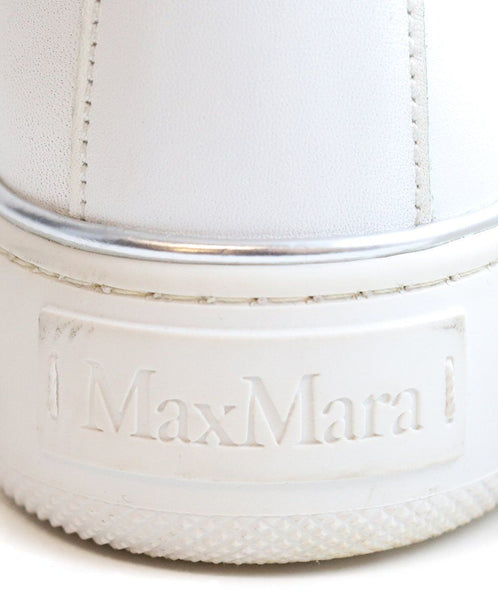 Max Mara White Leather Sneakers 5