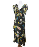 Max Mara Black Paisley Print Multi Silk Dress 3