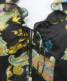 Max Mara Black Paisley Print Multi Silk Dress 5