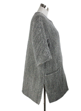 Max Mara Brown Beige Tweed Wool Coat 2