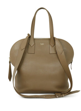 Max Mara Brown Tan Leather Satchel Handbag 1