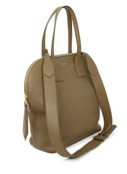 Max Mara Brown Tan Leather Satchel Handbag 2
