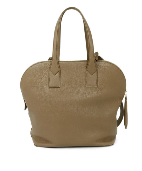Max Mara Brown Tan Leather Satchel Handbag 3