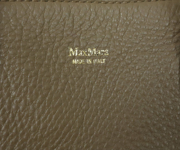 Max Mara Brown Tan Leather Satchel Handbag 9