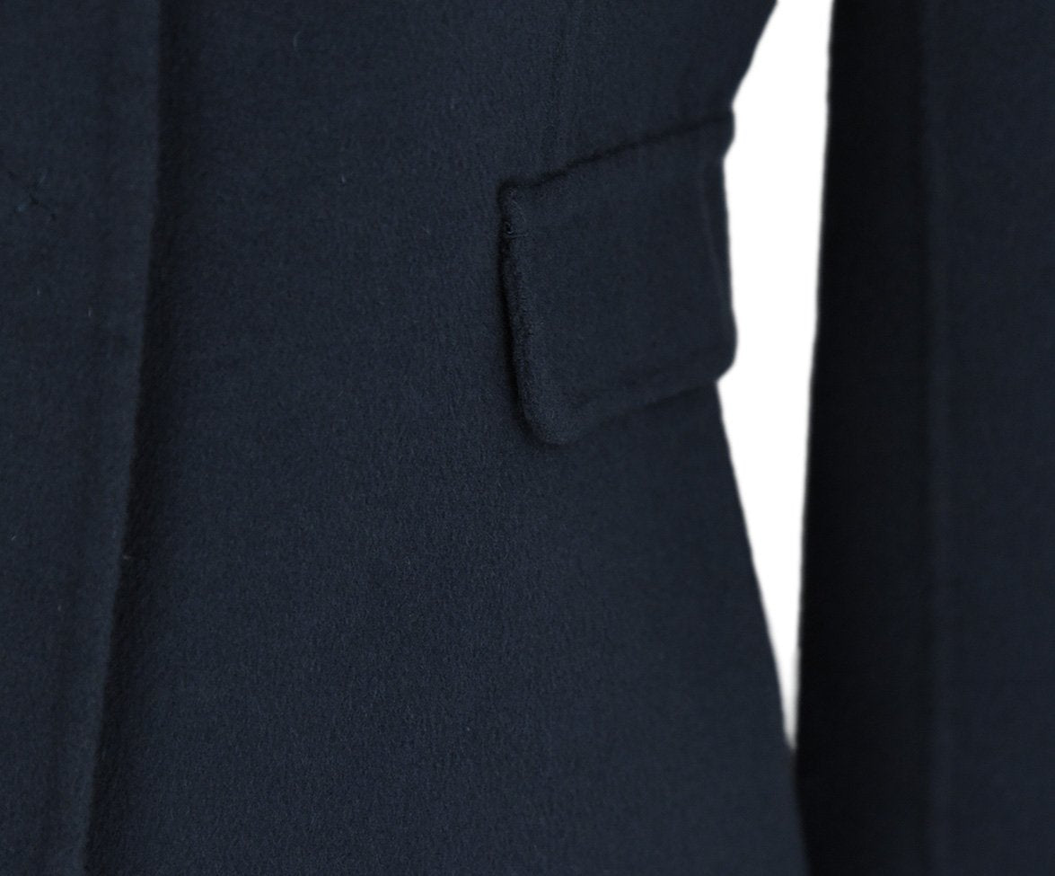 Max Mara Blue Navy Wool Angora Jacket 5