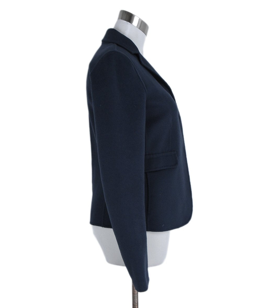 Max Mara Blue Navy Wool Angora Jacket 2