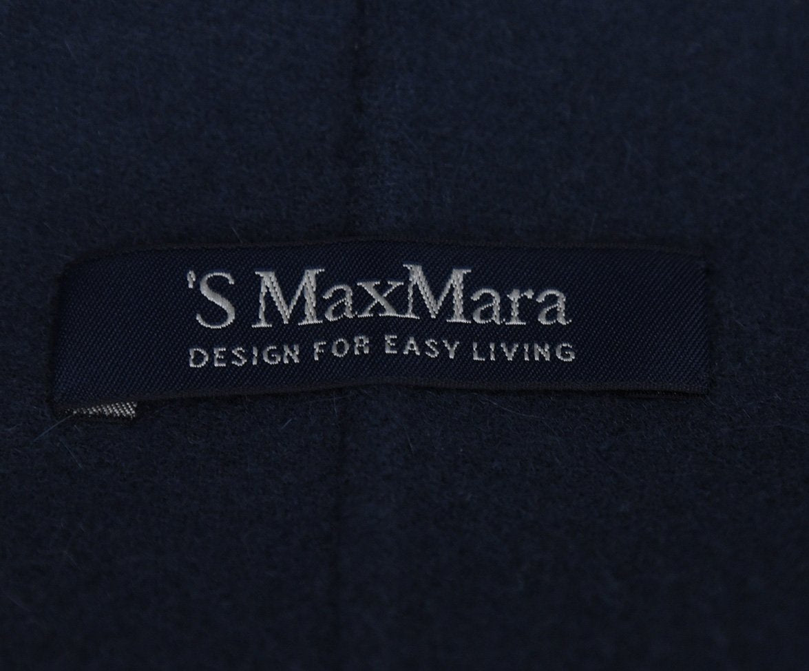Max Mara Blue Navy Wool Angora Jacket 4