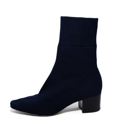 Max Mara Navy Knit Viscose Booties 1